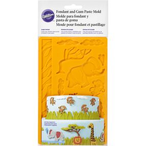 Jungle Animals Fondant & Gum Paste Mold